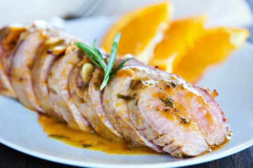 Solomillo de cerdo a la naranja